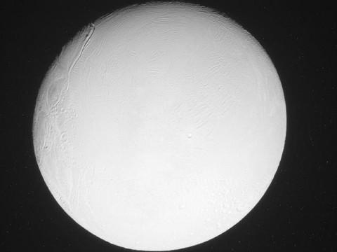 Raw, unprocessed image of Saturn's moon Enceladus. (Image credit: NASA/JPL-Caltech/Space Science Institute)