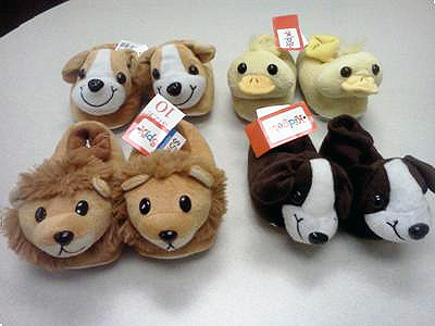 Kidgets® Animal Sock Top Slippers recalled.