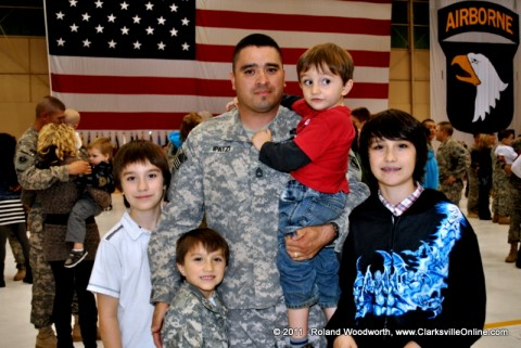 SFC Roy Ipatzi with his boys Lance, Darius, Isaac and Wyatt