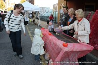 Mary Nell Wooten hands out candy for the Roxy Regional Theatre at Fright on Franklin Street