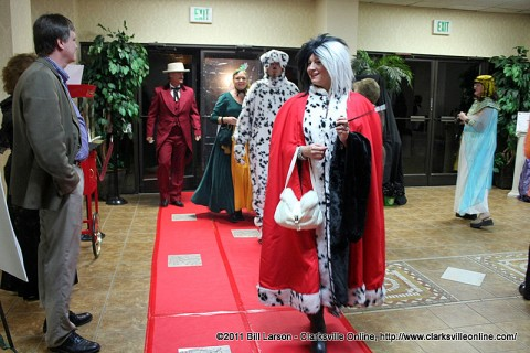 Guests arrive at the 2011 Wags to Witches Fur Ball Bash