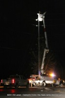 Clarksville Department of Electricity Linemen work to restore power to south Clarksville