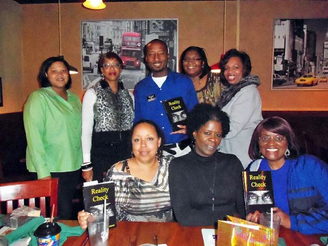 "Women of Color Book Club honored local author Richard ""Reason"" Garrett for his 2nd Novel entitled Reality Check."