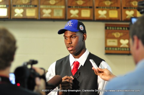 Alex Poythress on signing day.