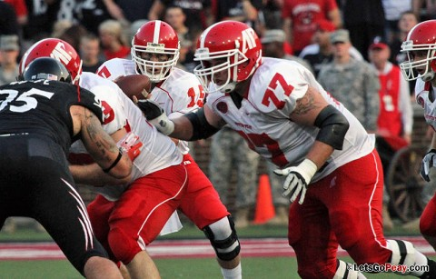 James Barker (77) will play for the South team in the FSC Scout Senior Bowl, Saturday. (Courtesy: Mateen Sidiq/Austin Peay)