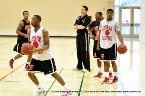 Austin Peay Men's Basketball prepares for their Saturday game against Rochester College.