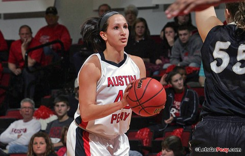 Junior Meghan Bussabarger recorded her season's second double-double in Saturday's loss at Morehead State. (Courtesy: Keith Dorris/Dorris Photography)