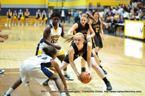 Clarksville High Lady Wildcats defeated the Northeast High Lady Eagles 89-9.