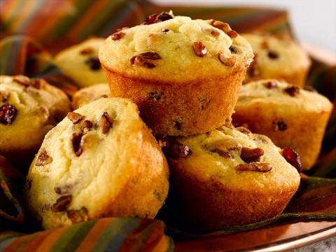 Cranberry Pecan Corn Muffins
