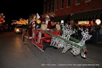 Santa Claus closes out the 2011 Lighted Christmas Parade