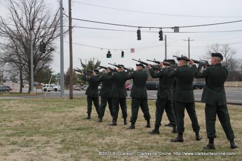The 21 gun salute