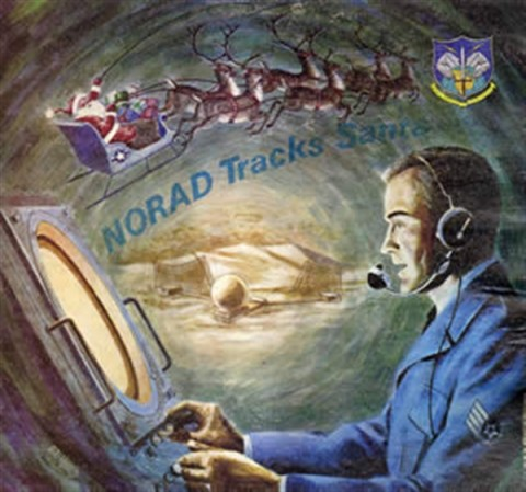The North American Aerospace Defense Command based at Peterson Air Force Base, Colo., will again track Santa Claus on his annual Christmas Eve flight to deliver presents to children around the globe. (Courtesy graphic)