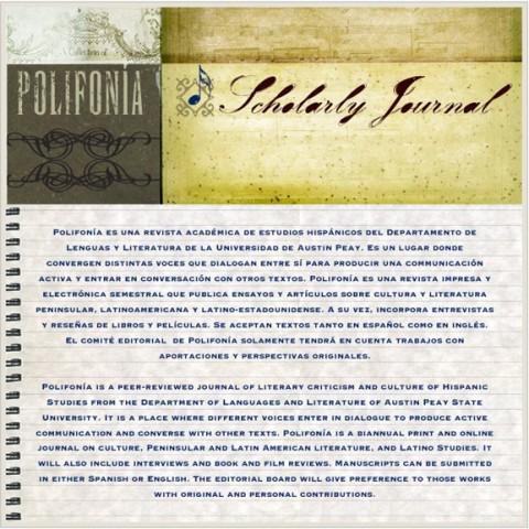 Polifonia Scholarly Journal