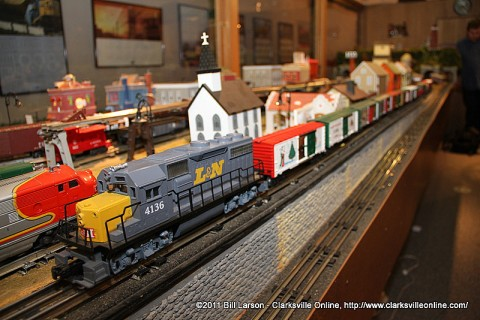 "The ""Snowflake Special"" Christmas model trains at the Customs House Museum."