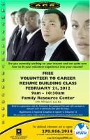 Volunteer to Career - Resume Building Class