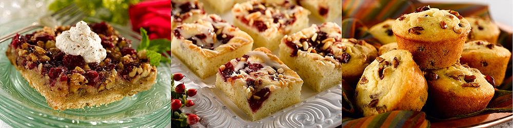 ... , Cranberry Sourcream Coffee Cake and Cranberry Pecan Corn Muffins