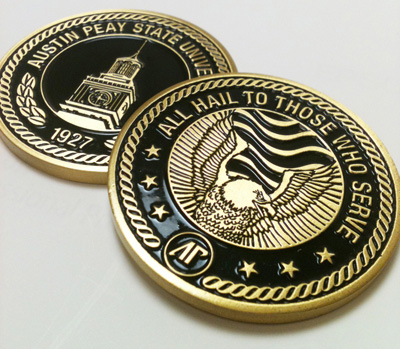 APSU's new Military Coin.