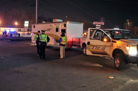 The December 9th DUI Checkpoint. (Photo by CPD-Jim Knoll)
