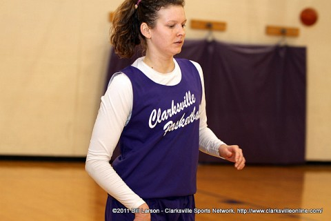 Jessy Ward at Clarksville High Lady Wildcats basketball practice.