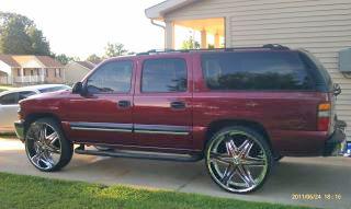 Brandon Rushing was last seen driving a 2006, Chevy Suburban, Burgundy/Maroon, Tennessee Tag # 149XLF.