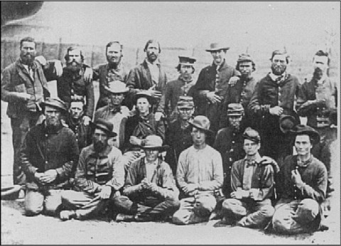 The men of the 48th Tennessee Infantry at Camp Douglas after their fight at Fort Donelson