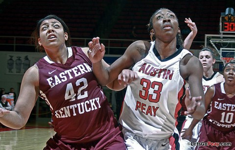 Somailia McKenney led Austin Peay with 14 points in Monday's loss to Eastern Kentucky. Austin Peay Women's Basketball. (Courtesy: Austin Peay Sports Information)