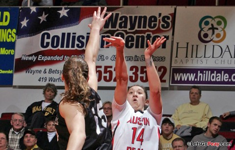Junior Leslie Martinez led the Lady Govs with five rebounds at Southeast Missouri, Monday. (Courtesy: Keith Dorris/Dorris Photography)