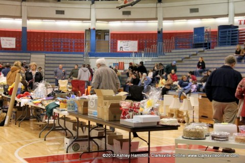 Around 300 people came to the Fundraiser Auction held at the Montgomery Central High School's Thomas-Young Gym for Brady Conaster Saturday night.