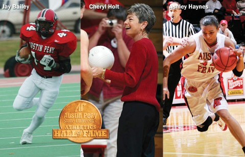 Jay Bailey, Cheryl Holt and Ashley Haynes to be inducted into the APSU Athletics Hall of Fame. (Courtesy: Austin Peay Sports Information)