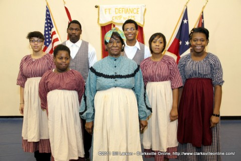 Mrs. Geneva Bell with her serving staff
