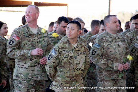 Chief Warrant Officer Collis (left) and Captain Cai (Center)