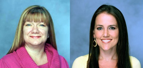 (L to R) Jeanine Chester and Cydney Miller.