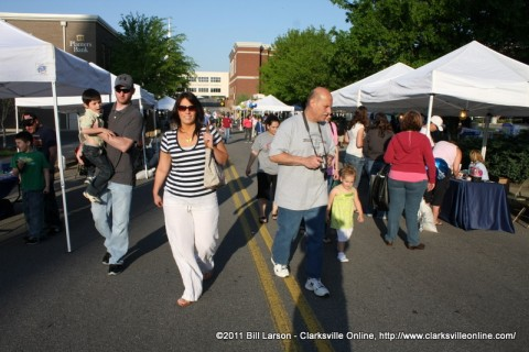 Rivers and Spires Festival in Downtown Clarksville Tennessee.