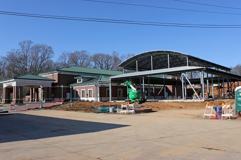 WIC Clinic construction currently underway next to the Health Department.