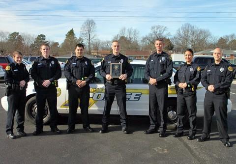 The officers from left to right are: Colleen Sala, Justin Neagos, Adrian Anderson, Jesse Scott (John R. Cunningham Award Winner) , John Neal, Sunisa Bridgeforth, and John Vanneste.