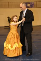 Emily McCollum with her father