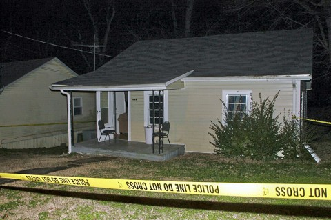 Residence where two people were shot and killed Friday night. (Photo by CPD-Jim Knoll)