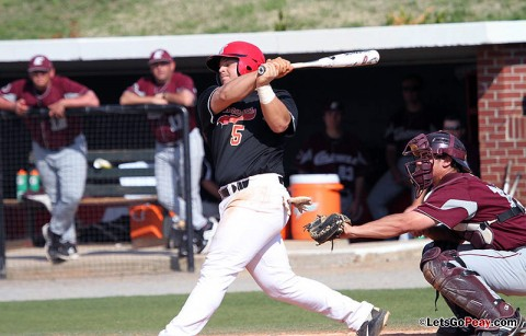 Senior third baseman Greg Bachman had three hits and six RBI in the Govs opening-day win against Illinois State. Austin Peay Men's Baseball. (Courtesy: Mateen Sidiq/Austin Peay)