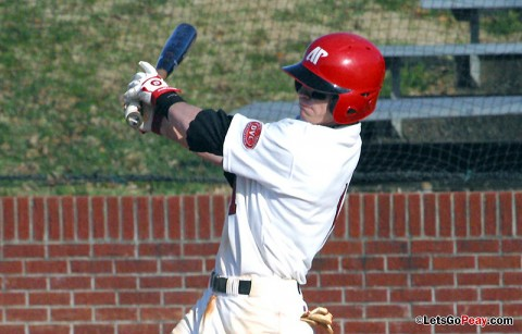 Designated hitter Jon Clinard had two hits and two RBI in the Govs 5-3 victory at Georgia State, Saturday. Austin Peay Baseball. (Courtesy: Austin Peay Sports Information)