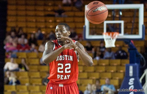 Herdie Lawrence came off the bench to score a season high 19 points to help the Austin Peay Governors past UT Martin Thursday night. Austin Peay Men's Basketball. (Courtesy: William Powell)