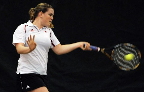 Senior Vanja Tomic her 12th straight match against the Blue Raiders. Austin Peay Women's Tennis. (Courtesy: Austin Peay Sports Information)