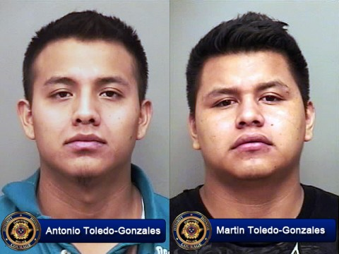 Antonio Toledo-Gonzales and Martin Toledo-Gonzales were arrested for Aggravated Assault and Burglary.