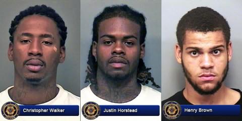 Christopher Walker, Justin Horstead and Henry Brown