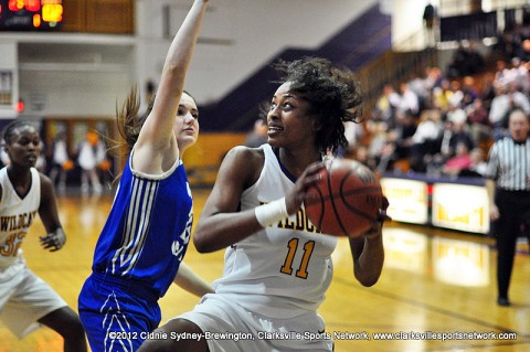 Bashaara Graves racked up 25 of Clarksville High School's 59 points. In the first game of the 5-AAA Regional Tournament, the District's Champions, Clarksville High School, played host to and won against Wilson Central 59-35.