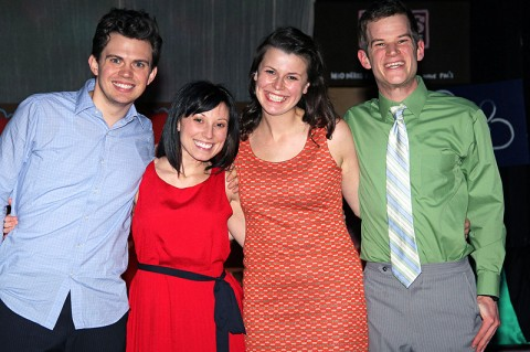 "The cast of ""I Love You, You're Perfect, Now Change"", (L to R) Ryan Bowie, Heather Anderson, Ashley Laverty and Josh Bernaski."