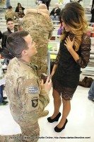 PFC. Chris West proposing to his girlfriend Jordan Morris the day before Valentine's Day