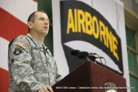 COL William B. Hickman, the Deputy Commander of Operations for the 101st Airborne Division (Air Assault) addresses the returning soldiers