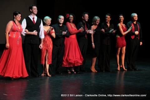 The 2012 dancers for Altrusa's Dancing with the Stars