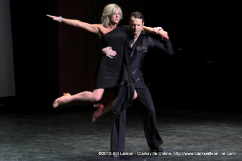 Felicia Long dancing with Pro Danny Pugh doing the West Coast Swing