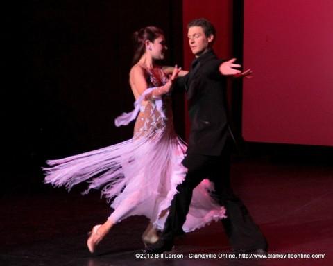 Jonathon Bungard and Jennifer Kirksmith glide through the Tango